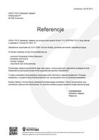 Referencja od firmy OKNO-TECH Sebastian Gałązka