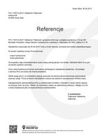 """Referencja od firmy PHU """"INSTALBUD""""  Waldemar Piątkowski"""