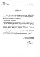 Referencja od firmy JYSK Sp. z o.o. SKLEP 333, ul. 1 Maja 68, 58-300 Wałbrzych, Infolinia: 22 288 59 00
