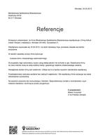 Referencja od firmy Młodzieżowa Spółdzielnia Mieszkaniowa