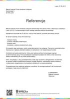 Referencja od firmy Matusz Kwiecień Firma Handlowo-Usługowa