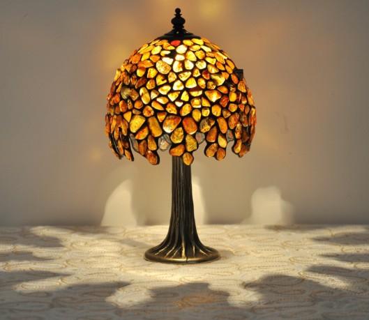 Lampy Z Naturalnego Bursztynu Lampy Typu Tiffany Z