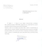 Referencja od firmy HORN & Co. POLSKA Sp. z o.o.