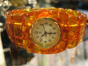 zegarek z bursztynu - Berkwiat - Producent biżuterii Gdańsk