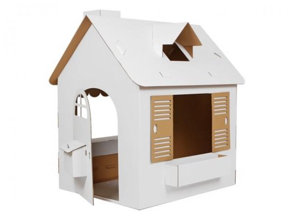 domek z tektury tekturowy domek dla dzieci zabawki. Black Bedroom Furniture Sets. Home Design Ideas