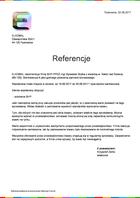 Referencja od firmy ELKOMAL Pyskowice