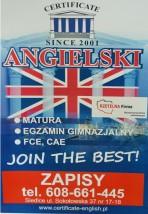 Kursy nauki angielskiego - Certificate C.S. Stanisław Czajka Siedlce