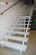 Schody solid surface, stopnie kompozytowe, podstopnice - EcoBlat Producent Blatów Kompozytowych Maków Podhalański
