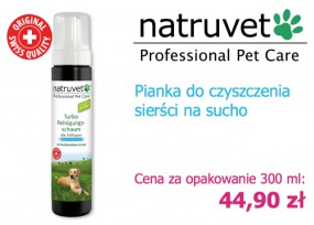 Pianka do czyszczenia sierści psa - NERO GOLD Bezglutenowe Karmy dla Psów i Kotów Rzeszów