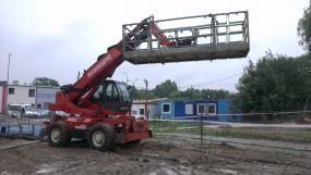 Ładowarka teleskopowa obrotowa - Usługi dźwigowe, transportowe koparko-ładowarkami Jasinski Ciechanów