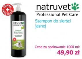 Szampon z odżywką 2w1 Natruvet - NERO GOLD Bezglutenowe Karmy dla Psów i Kotów Rzeszów