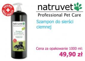 Szampon z odżywką 2 w 1 Natruvet - NERO GOLD Bezglutenowe Karmy dla Psów i Kotów Rzeszów
