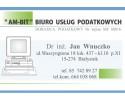"""""""AM-BIT"""" Biuro Usług Podatkowych dr inż. Jan Wnuczko"""