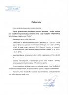 Referencja od firmy AKVO Sp. z o.o.