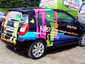 Reklama na samochodach, oklejanie samochodów   Mińsk - AREK Agencja Reklamowa Mińsk Mazowiecki