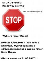 Kupon rabatowy - STOP OTYŁOŚCI - Tempo - Sklep Rowerowy Rajsko
