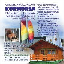 wynajem domków letniskowych krótkoterminowych - Ośrodek Wypoczynkowy Kormoran w Niesulicach Niesulice