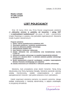 Referencja od firmy Urząd Miasta Leżajsk