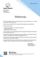 Referencja od firmy WOLF EVENTS
