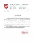 Referencja od firmy Urząd Miasta Sławków