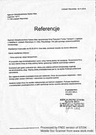 Referencja od firmy Agencja Ubezpieczeniowa Sylwia Welc
