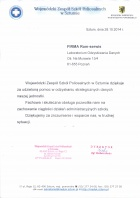 Referencja od firmy Wojewódzki Zespół Szkół Policealnych w Sztumie