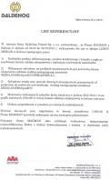 Referencja od firmy Daldehog Poland Sp. z o.o.