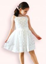 Sukienka dziewczęca ecru - DMDmoda wizytowa odzież dziecięca Kielce