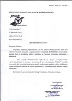 Referencja od firmy Biuro Podróży PKS Bielsko Biała