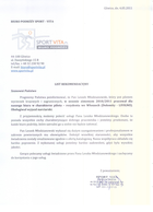 Referencja od firmy Biuro podróży Sport Vita