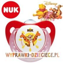 NUK Silikonowy smoczek uspokajający DISNEY 0-6m, rozmiar 1, czerwony T - Łukasz Ciślak Firma Handlowa Czaniec