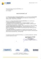 Referencja od firmy RES-DROB Sp. z o.o.