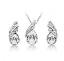 Srebrny komplet biżuterii KROPLE - ZOAA.SELL Zawiercie