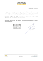 Referencja od firmy IMMO Zbigniew Byra