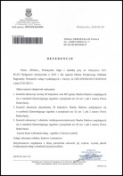 Referencja od firmy Agencja Mienia Wojskowego Oddział w Warszawie