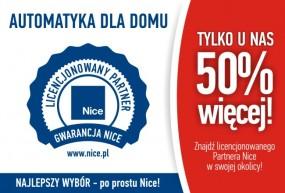 Automatyka NICE do bram - U NAS OTRZYMASZ 50% WIĘCEJ - F.U.H. VENTUS Matras Kamil Bielsko-Biała