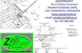 Projekt zjazdu indywidualnego z drogi - ZJAZDPROJEKT Biuro Projektów Drogowych Wieliczka