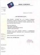Referencja od firmy Gmina Gomunice
