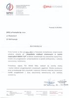 Referencja od firmy Miejskie Przedsiębiorstwo Energetyki Cieplnej w Przemyślu Sp. z o.o.