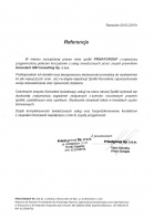 Referencja od firmy PrivatGroup Sp. z o.o.