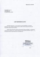 Referencja od firmy Twoje Biuro Sp. z o.o.