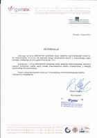 Referencja od firmy getsix poznań Sp z o.o.