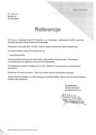 Referencja od firmy BT-Trans s.c.