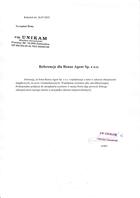 Referencja od firmy P.W. UNIKAM