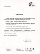 Referencja od firmy Cementownia Warta S.A.