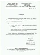 Referencja od firmy AKS Budownictwo