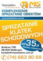 MS SOLUTIONS Michał Szatoń - Sprzątanie klatek schodowych – Abonamentowo i interwencyjnie Wałbrzych