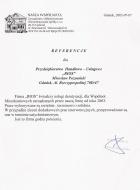 Referencja od firmy NASZA WSPÓLNOTA Zarządzanie i Administrowanie Nieruchomościami