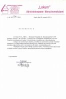 Referencja od firmy LOKUM Administrowanie Nieruchomościami
