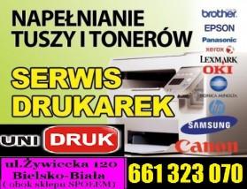 Tuz do drukarki  Napełnianie Regeneracja - Unidruk Tusze Tonery - Serwis Drukarek Bielsko-Biała